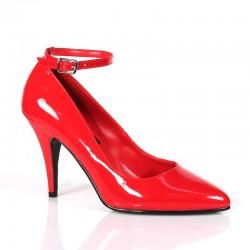 Alto Scarpe Pleaser VANITY-431 Rosso vernice