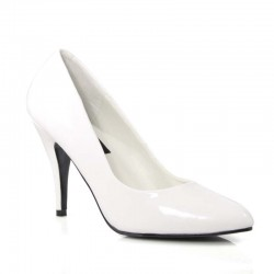 Alto Scarpe Pleaser VANITY-420 Bianco vernice