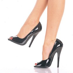Zapatos Tacones Altos Pleaser DOMINA-212 Negro Barniz