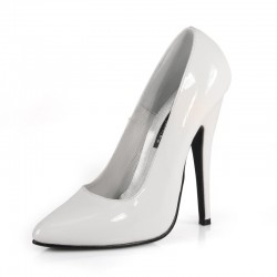 Zapatos Tacones Altos Pleaser DOMINA-420 Blanco Barniz