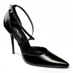 High Heels Pumps Pleaser MILAN-42L Black Leather