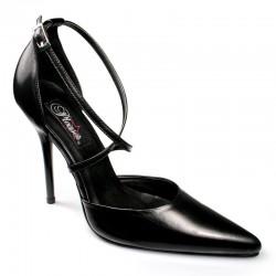 Zapatos Tacones Altos Pleaser MILAN-42L Negro Cuero