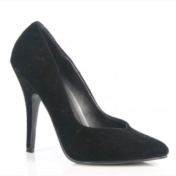High Heels Pumps Pleaser SEDUCE-420 Black velvet