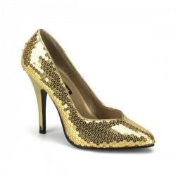 Zapatos Tacones Altos Pleaser SEDUCE-420SQ Or Sequins