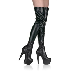 High Platforms Thigh High Boots Pleaser ADORE-3000 Black matte