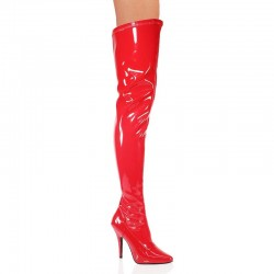 High Heels Thigh High Boots Pleaser SEDUCE-3000 Red patent