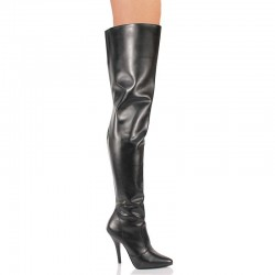 High Heels Thigh High Boots Pleaser SEDUCE-3010 Black matte