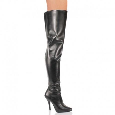 High Heels Thigh High Boots Pleaser SEDUCE-3010 Black matte