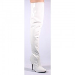 High Heels Thigh High Boots Pleaser SEDUCE-3010 White patent