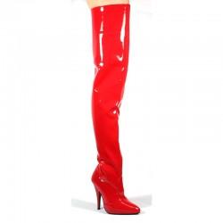 Alto Alti Stivali Pleaser SEDUCE-3010 Rosso vernice