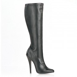 High Heels Knee Boots Pleaser DOMINA-2000 Black matte