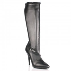 High Heels Knee Boots Pleaser SEDUCE-2000 Black matte