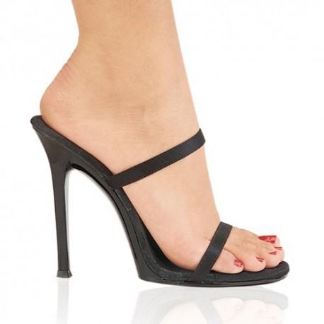 Heels Sandals Fabulicious GALA-02 Black Satin