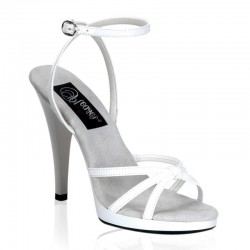 Heels Sandals Fabulicious FLAIR-436 White patent