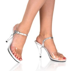 Heels Sandals Fabulicious CARESS-408 Clear