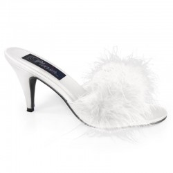 Heels Mules Fabulicious AMOUR-03 White Satin