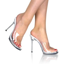 Heels Mules Fabulicious CHIC-01 Clear