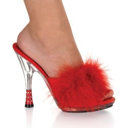 Heels Mules Fabulicious GLITZY-501-8 Red