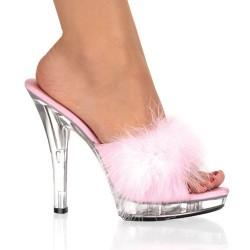 High Heels Heels Mules Fabulicious LIP-101-8 Pink