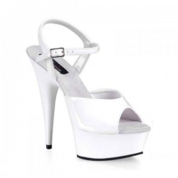 Platforms Sandals Pleaser DELIGHT-609 White Patent