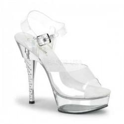 Platforms Sandals Pleaser DIAMOND-608 Clear/Clear