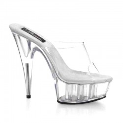 Platforms Heels Mules Pleaser DELIGHT-601 Clear