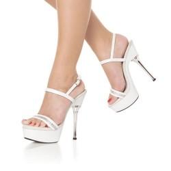 Platforms Sandals Pleaser ALLURE-617 White Size 42