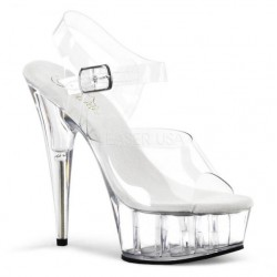 Platforms Sandals Pleaser DELIGHT-608 Clear