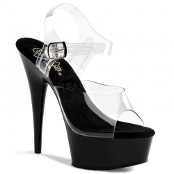 Platforms Sandals Pleaser DELIGHT-608 Clear/Black
