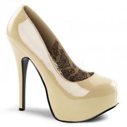 Zapatos Plataformas Bordello TEEZE-06 Creme barniz
