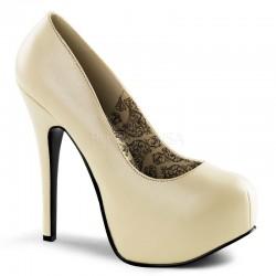Zapatos Plataformas Bordello TEEZE-06 Creme Cuero