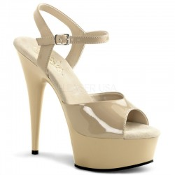 Platforms Sandals Pleaser DELIGHT-609 cream
