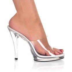 Heels Mules Fabulicious FLAIR-401 Clear