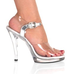 Heels Sandals Fabulicious FLAIR-408 Clear
