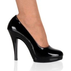 Zapatos Tacones Fabulicious FLAIR-480 Negro Barniz