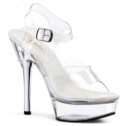 Platforms Sandals Pleaser ALLURE-608 Clear