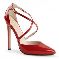 Zapatos Tacones Altos Pleaser SEXY-26 Rojo barniz