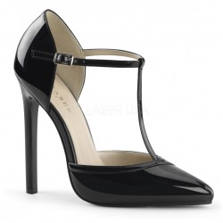 Zapatos Tacones Altos Pleaser SEXY-27 Negro barniz