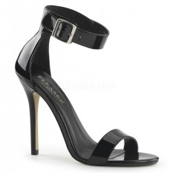 High Heels Sandals Pleaser AMUSE-10 Black patent