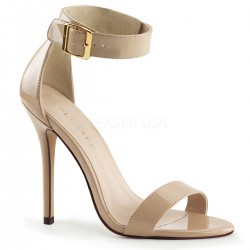 High Heels Sandals Pleaser AMUSE-10 Beige patent