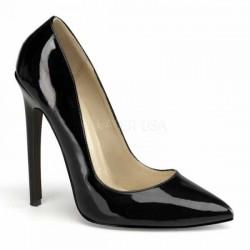 Zapatos Tacones Altos Pleaser SEXY-20 Negro barniz Taille 36 40