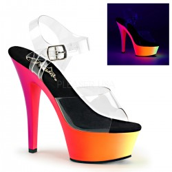 Sandales Plateformes Pleaser RAINBOW-208UV Transparent Rainbow