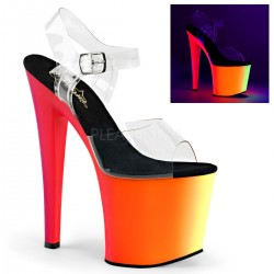Sandales Plateformes Hautes Pleaser RAINBOW-708UV Transparent Rainbow