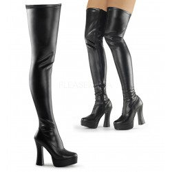 Platforms Thigh High Boots Pleaser ELECTRA-3000Z Black Mat