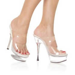 Platforms Heels Mules Pleaser ALLURE-602 Clear