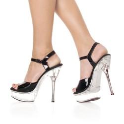 Platforms Sandals Pleaser ALLURE-609 Clear/Black