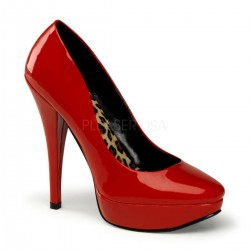 Platforms Pumps Pin Up Couture HARLOW-01 Red patent