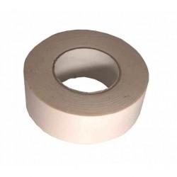 Toile 25mm ECRU adhésive - Rouleau de 50m