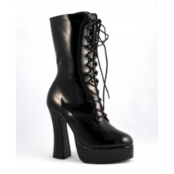 Bottines Talons Hauts Pleaser ELECTRA-1020 Noir vernis