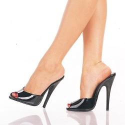 High Heels Heels Mules Pleaser DOMINA-101 Black patent